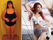 Để mặc áo tắm quyến rũ, bà mẹ 4 con giảm liền 60kg sau sinh