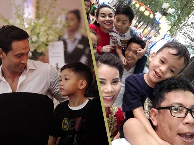 Kim Lý vui vẻ cõng Subeo đi du xuân cùng gia đình Hồ Ngọc Hà