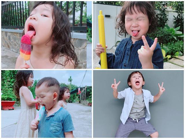 Chụp ảnh hài hước, ngộ nghĩnh, đố ai sánh bằng của 4 nhóc tì nhà Lý Hải Minh Hà