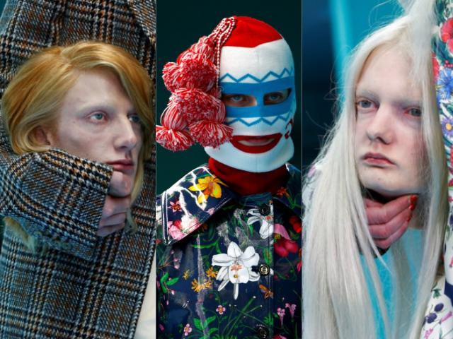 Show diễn dị nhất thế giới: Người mẫu ôm đầu nhân tạo, vác rồng đi catwalk!
