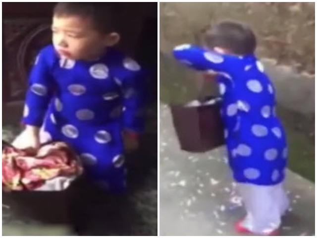 Cậu bé 6 tuổi xách túi bánh chưng quyết bỏ nhà đi bụi vì bị bố mắng