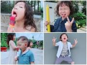 Làm mẹ - Chụp ảnh hài hước, ngộ nghĩnh, đố ai sánh bằng của 4 nhóc tì nhà Lý Hải Minh Hà