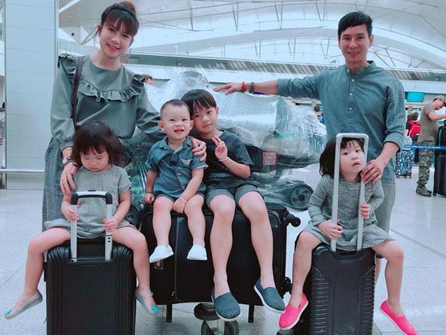 Đội quân 4 con của Lý Hải - Minh Hà đáng yêu hết nấc ở nước ngoài