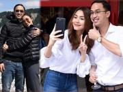 Thời trang - Giữa tin đồn mang bầu lần 3, Tăng Thanh Hà liên tục e ấp diện đồ đôi với chồng