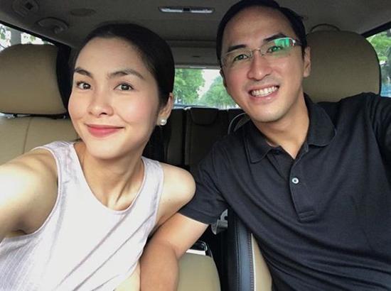Tăng Thanh Hà được ông xã tháp tùng tới chúc mừng sinh nhật con gái Phạm Anh Khoa