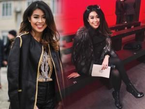 Em chồng Tăng Thanh Hà đẹp xuất sắc, càn quét hàng ghế đầu ở Milan Fashion Week
