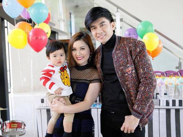 Đan Trường cùng vợ tổ chức sinh nhật hoành tráng cho quý tử tại biệt thự triệu đô