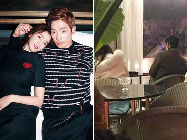 Con gái chưa lộ nhưng Bi Rain và Kim Tae Hee thường xuyên xuất hiện trốn con đi cafe