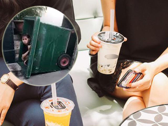 Cô gái quyết tâm dọn ra thùng rác ở vì hờn người yêu không mua trà sữa cho