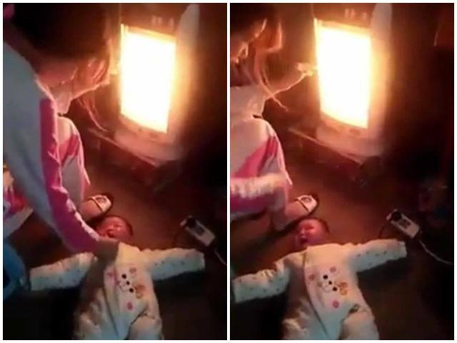 Phẫn nộ trước cảnh người phụ nữ đặt bé sơ sinh nằm đất rồi bạo hành liên tiếp