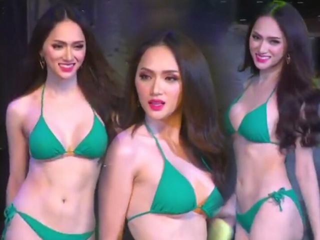 Hương Giang Idol đốt cháy sân khấu trong phần thi bikini tại Hoa hậu chuyển giới