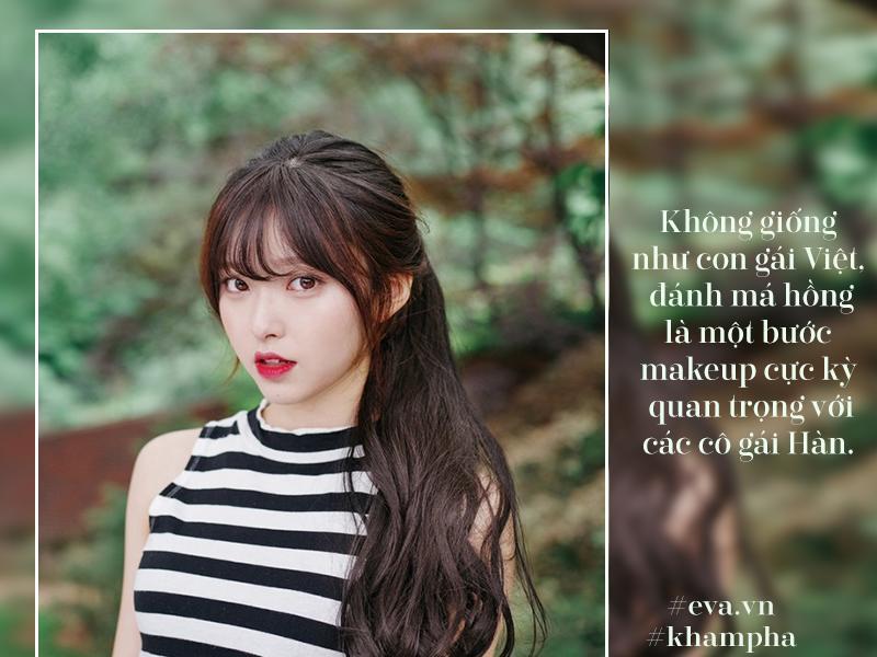 Xu hướnghiện được gái Hàn rất chuộng trào lưu má hồng trái tim