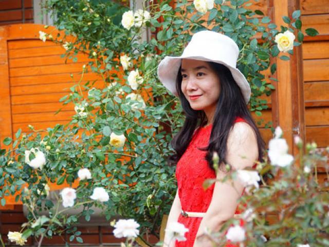 Đẹp lạ khu vườn nghìn cây hoa hồng Bulgaria ở Hà Nội