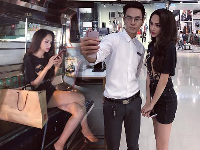 Hương Giang Idol được người dân Thái Lan nhiệt tình săn đón khi đang đi shopping