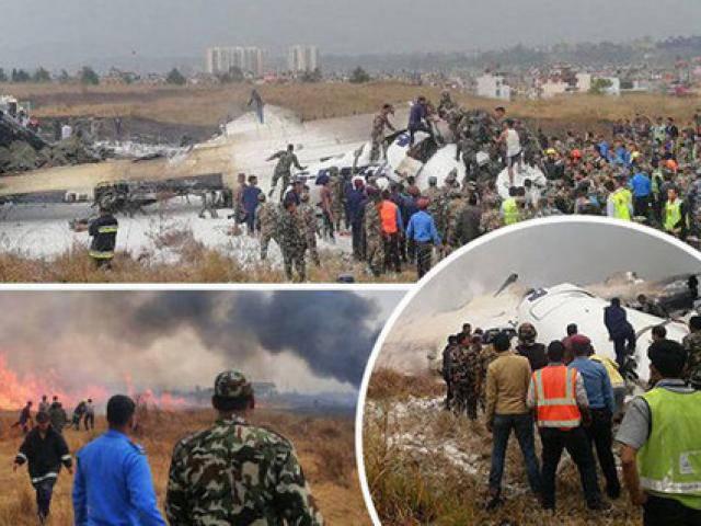 Đang hạ cánh, máy bay rơi xuống bốc cháy, 50 người chết