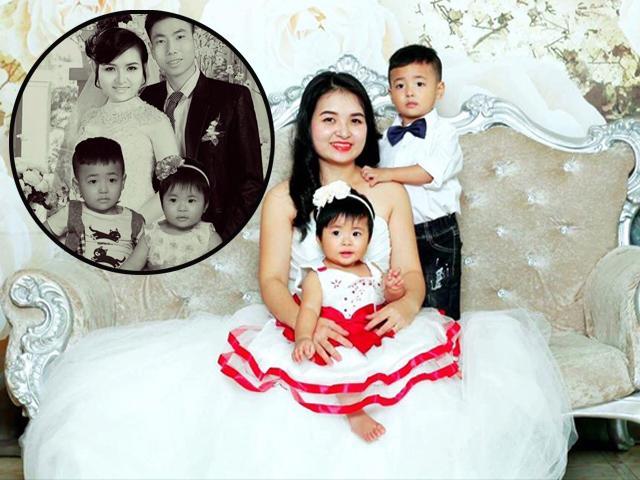 Nghẹn lòng với câu chuyện vợ sinh con khi chồng đã mất và bức ảnh ghép gia đình