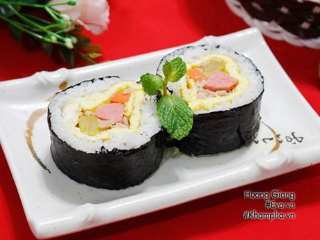 Cách làm sushi không cần mành tre chị em tha hồ trổ tài dịp cuối tuần