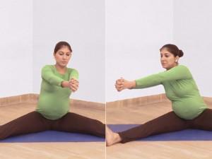 Tư thế yoga cối xay gió cực có lợi cho mẹ bầu 3 tháng cuối