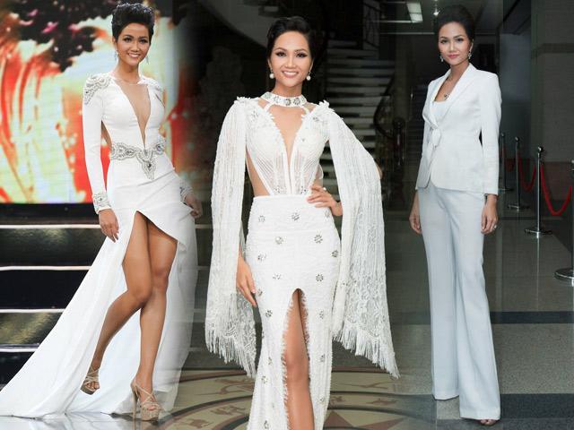 Đăng quang không lâu, Hoa hậu H Hen Niê đã có BST đồ trắng chất ngất