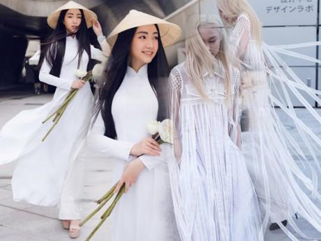 """Fung La hoá """"bạch phát ma nữ"""" đối lập Ngọc Trân tại Seoul Fashion Week 2018"""