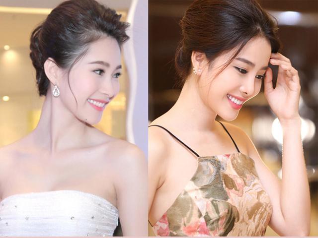 Trang điểm giống nhau, để cùng kiểu tóc, Nam Em như chị em sinh đôi với HH Thu Thảo!