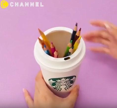 Tưởng chỉ uống rồi bỏ đi, hóa ra cốc nhựa đựng cafe còn làm được nhiều thứ đồ đến vậy - 7