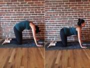 Mang bầu mẹ nào cũng bị đau lưng, hãy tập ngay tư thế yoga con mèo