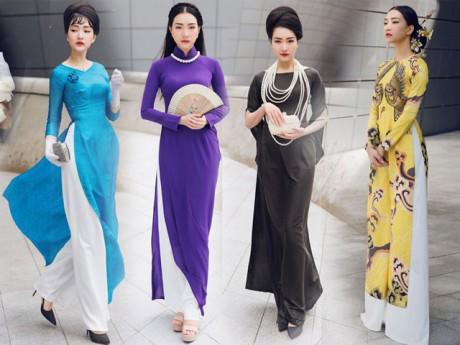 Chỉ cần diện áo dài thả dáng tại Hàn Quốc, Ngọc Trân hoàn toàn khiến mọi người phải chú ý