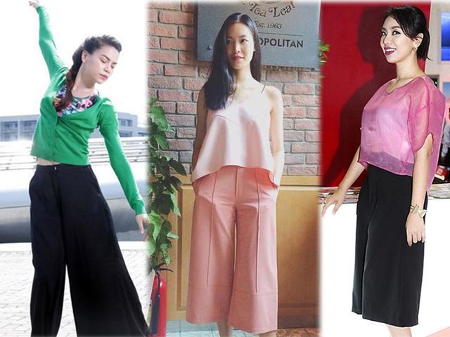 Cao như Hồ Ngọc Hà, hoa hậu Thùy Dung cũng không tránh khỏi xấu vì quần culottes