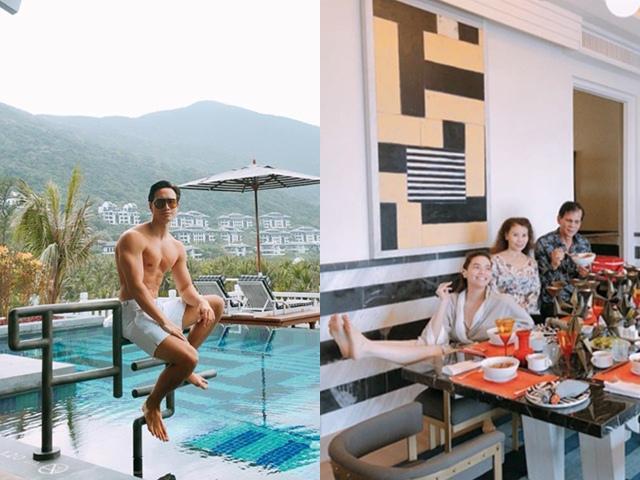 Nghi vấn đính hôn còn đang bỏ dở, Kim Lý lại đi nghỉ dưỡng cùng gia đình Hồ Ngọc Hà