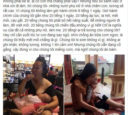"chuyen ""dung vi cho mieng com, ma nghi o nha cham con la an bam"" cua me 9x gay sot - 1"