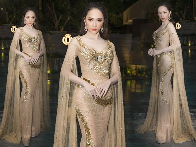 Hoa hậu Hương Giang mang giày cao 20 phân, đẹp tựa nữ thần tại sự kiện