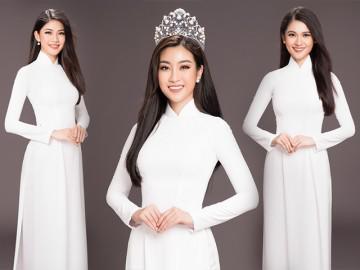 3 mỹ nhân đẹp nhất Hoa hậu Việt Nam 2016 khoe sắc với áo dài trắng thuần khiết