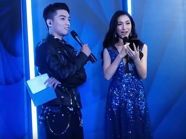 Hòa Minzy váy xanh thần thoại bất ngờ tranh tài tạo dáng cùng VJ Ngọc Trai
