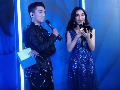 """Hòa Minzy váy xanh """"thần thoại"""" bất ngờ tranh tài tạo dáng cùng VJ Ngọc Trai"""