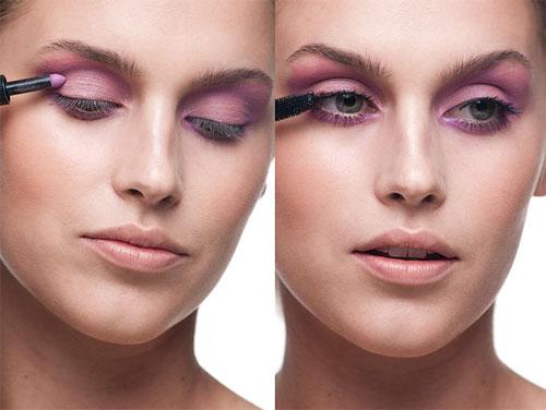 Mắt hồng tím quyến rũ, Làm đẹp, trang diem mat mau tim, trang diem mat mau hong, trang diem mat mau tim khoi, trang diem mat, trang diem dep, huong dan trang diem mat