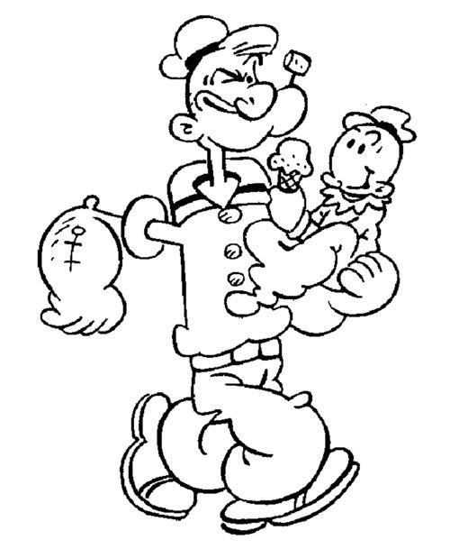 tranh to mau: thuy thu papai - 1