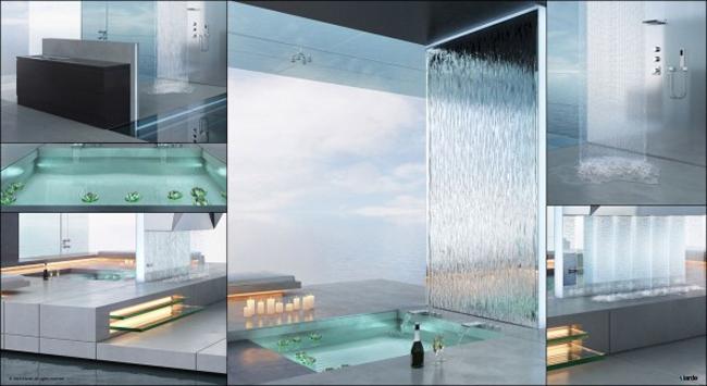 Nói không ngoa thì phòng tắm trong hình là một 'thiên đường tắm gội'.