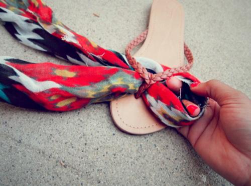 Eva khéo tay: Biến hóa giày xinh cùng vải vụn - 12