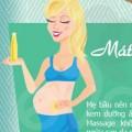 Bí kíp ngăn ngừa rạn da cho mẹ bầu