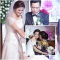 Làng sao - HH Biển Vân Anh nghẹn ngào trong đám cưới