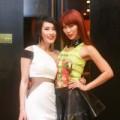 Làng sao - Hà Anh diện áo trong suốt mừng Kathy Uyên