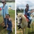 Làng sao - Hà Hồ dẫn Subeo lên Đà Lạt cưỡi ngựa