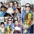 Làng sao - Phi Nhung thổi nến mừng sinh nhật tại sân bay