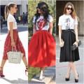 Thời trang - Phá cách cùng bộ đôi áo thun - váy xòe