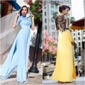 Thời trang - Minh Triệu, Ngọc Quyên diện áo dài cưới trên đất Mỹ