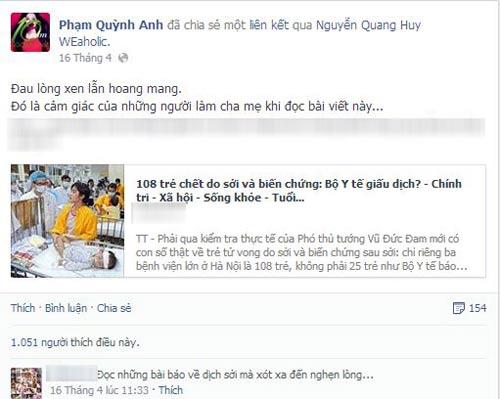Sao Việt sốt xình xịch trước dịch sởi - 7