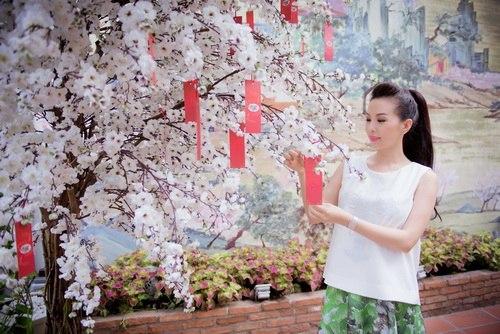 Hoa hậu Thu Hoài đẹp bất chấp tuổi 37-4
