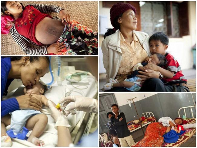 Bộ ảnh 'một ngày ở bệnh viện sản khoa Campuchia' được thực hiện bởi nhiếp ảnh gia Bernice Wong. Lý do mà nhiếp ảnh gia chọn chụp bộ ảnh này là do tỷ lệ tử vong ở trẻ sơ sinh ngay khi vừa lọt lòng mẹ của đất nước này rất cao (1/33 trẻ).  Không chỉ có thế, tỷ lệ tử vong ở trẻ sơ sinh ở những vùng nông thôn còn cao gấp 3 lần so với thành phố.