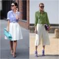 Thời trang - 6 cách biến hóa thời trang với sơ mi buộc vạt